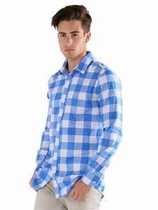 chemise bleu a carreaux fashion pour homme vetement With chemise a carreaux homme pas cher