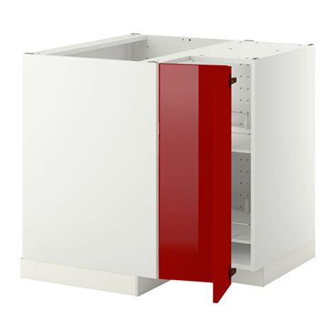 метод угл напольн шкаф с вращающ секц рингульт глянцевый красный белый ikea