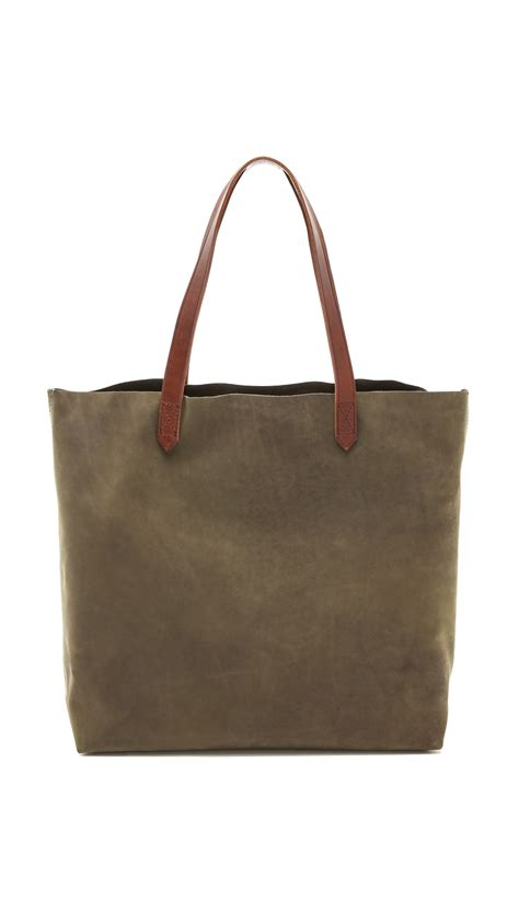 lyst madewell transport tote  brown