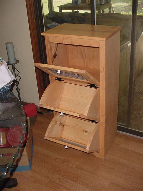 potatoonion storage bins woodworking projects diy easy