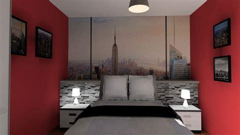 chambre ny chambre en 3d thème york