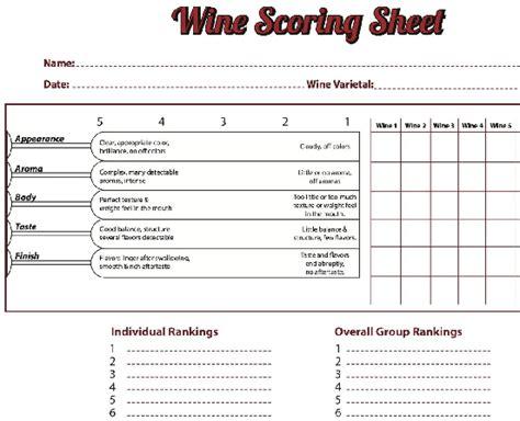 sle wine scoring sheet helpful wine wine tasting