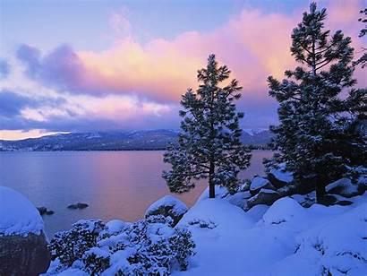 Snow Wallpapers Nature Lake Snowy Winter Zima