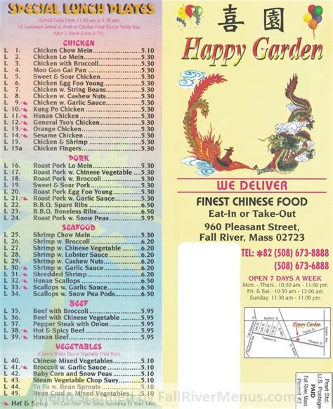 happy gardens fall river restaurant menus