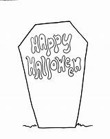Coffin Template Coloring Pages sketch template
