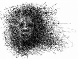 drawing horror Halloween inked tattoo portrait monochrome ...