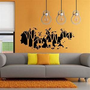 58cmx126cm forest fawn deer wall sticker wall decal home for Deer wall decals