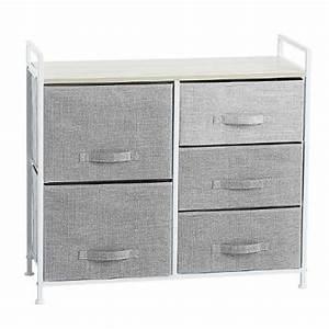 Meuble Rangement Gris : meuble de rangement 5 tiroirs 83cm gris clair ~ Teatrodelosmanantiales.com Idées de Décoration