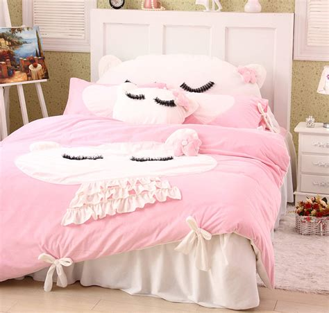 Mickey And Minnie Mouse Cartoon Bedding Sets Girls Bedroom