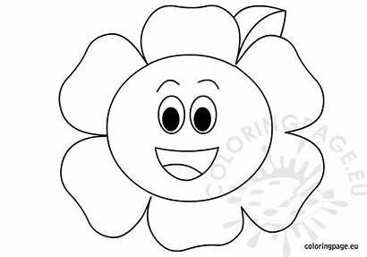 Coloring Flower Happy Summer Flowers Pages Toddlers