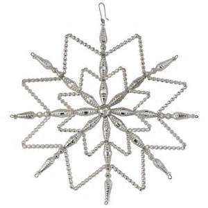 large glass snowflake ornament europeanmarket