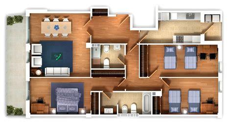 Top Apartment Floor Plans by 25 Three Bedroom House Apartment Floor Plans