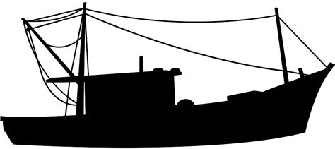 Fishing Boat Silhouette by Fishing Boat Silhouette Free Vector Silhouettes