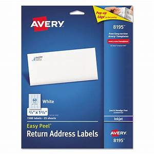 easy peel return address labels by averyr ave8195 With cheap address labels free shipping