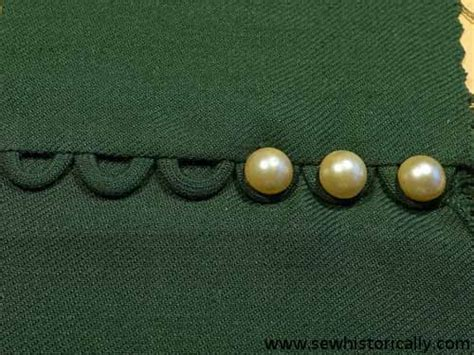 button loops vintage embroidery  sewing techniques