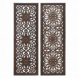 20 photos wood carved wall art panels wall art ideas With decorative metal wall art panels