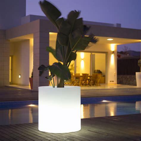 modern outdoor lighting ideas outdoor garden pots with built in lighting llum by