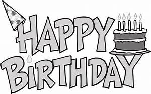 Best Birthday Clip Art Black And White #9139 - Clipartion.com