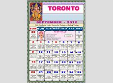 toronto Telugu Calendar 2012