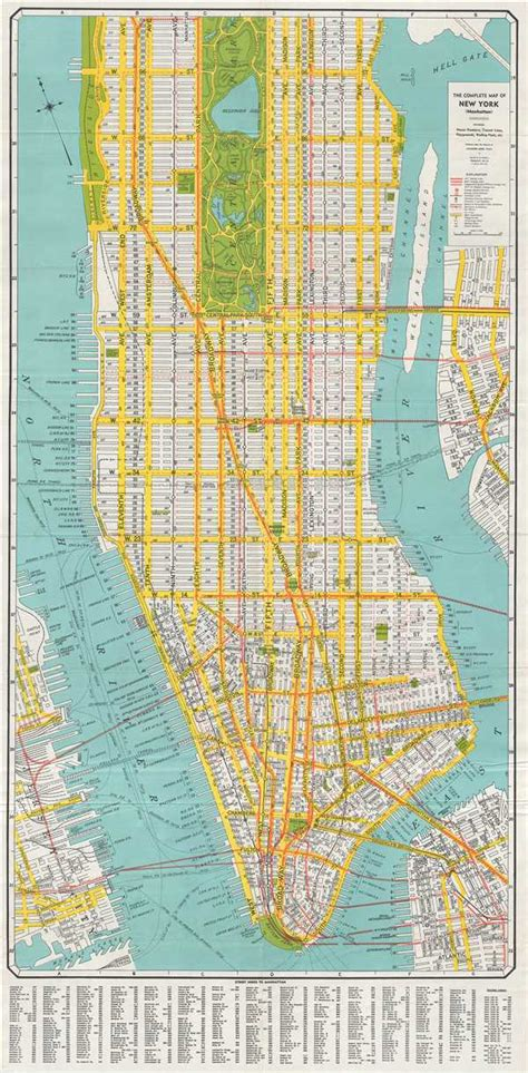 complete map   york manhattan geographicus