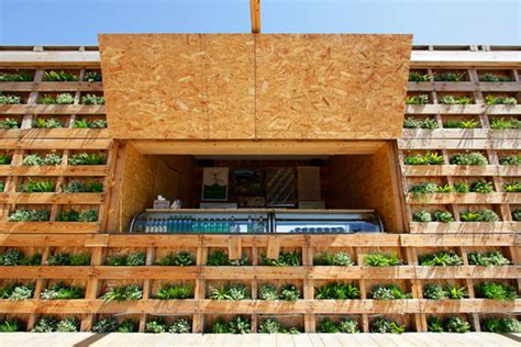 japanese beach house   upcycled wooden pallets