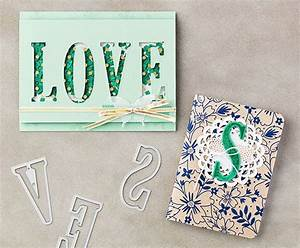 the large letters framelits and letters for you stamp set With letter cut out stamps