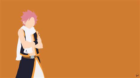 natsu dragneel fairy tail minimalistic wallpaper
