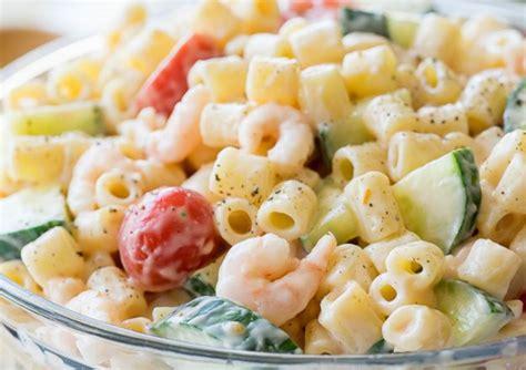 recette facile de salade de p 226 tes aux crevettes