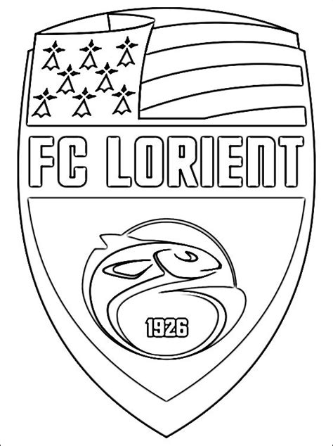 Kleurplaat Arsenal by Fc Lorient Football Team Coloring Page Coloring Pages