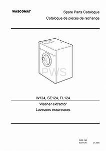 Diagrams  Parts And Manuals For Wascomat W124 Washer