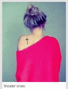 Shoulder blade cross | Tattoo Ideas | Pinterest