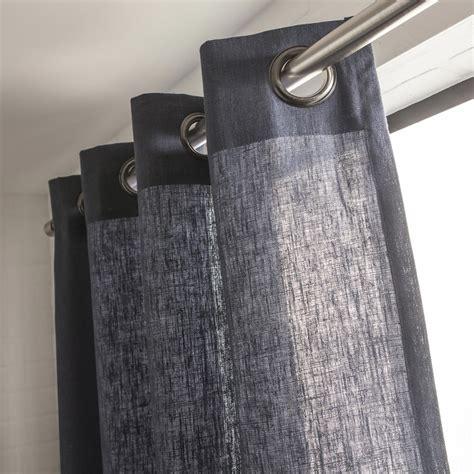 rideau tamisant toile bleu p 233 trole l 135 x h 250 cm leroy merlin