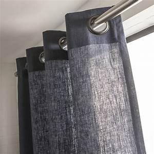 Rideaux En Lin Pas Cher : rideau lin bleu ~ Teatrodelosmanantiales.com Idées de Décoration