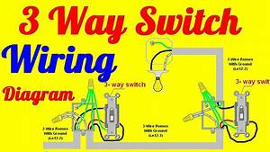 3 Way Switch Wiring Diagrams How To Install Youtube With