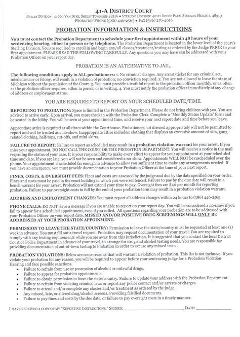sample letter  judge  early release  probation