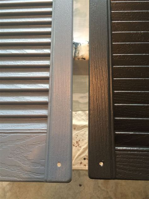 diy how to paint vinyl shutters our place of grace
