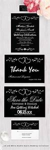 1957 best images about wedding invitation sets on With black and white heart wedding invitations