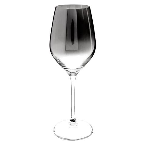 verre 224 vin en verre effet chrom 233 harmonie maisons du monde