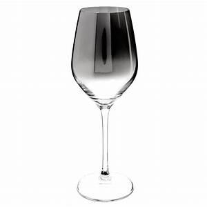 Verre a vin en verre effet chrome harmonie maisons du monde for Verres maison du monde