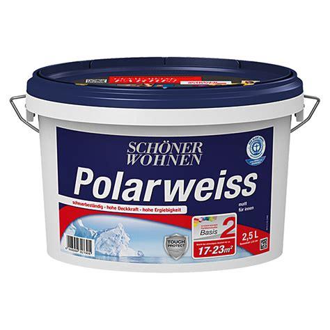 Schöner Wohnen Polarweiss 25 L by Sch 246 Ner Wohnen Polarwei 223 Basismischfarbe 2 5 L Matt