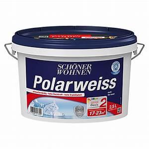 Schöner Wohnen Polarweiss : sch ner wohnen polarwei basismischfarbe 2 5 l matt ~ Watch28wear.com Haus und Dekorationen