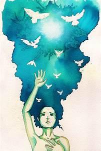 Art, just art - Watercolor Illustrations by Blueshining ...