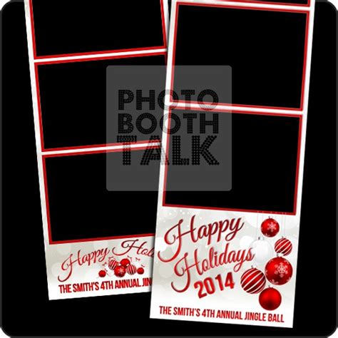 photo booth christmas templates festival collections