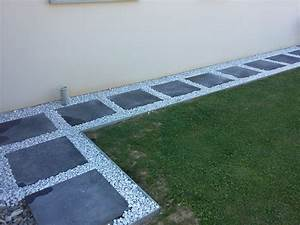 bricolage de l39idee a la realisation allee dalle et With attractive allee de jardin en cailloux 5 creation dallees de jardin avec des dalles et pas