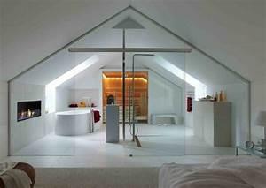 Badezimmer Mit Sauna : badezimmer mit dachschr ge sauna und glaswand home bad ~ A.2002-acura-tl-radio.info Haus und Dekorationen