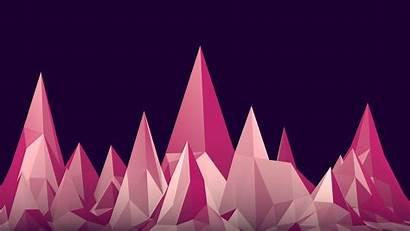 Graphics Pink Mountain 3d Wallpapers Desktop