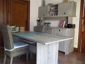 Table Cuisine Grise : table cuisine banc gris clasf ~ Teatrodelosmanantiales.com Idées de Décoration