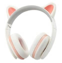 headphones with cat ears earphones pink headphones cat ears ear ears cats