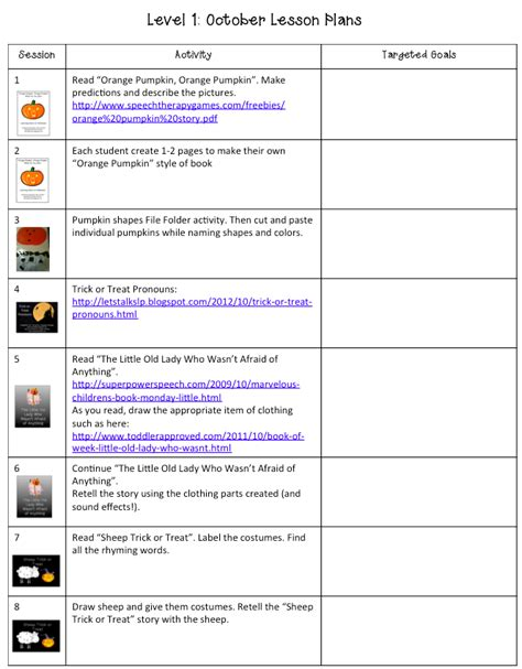 october lesson plans speech language therapy posts 613 | 3c68813480f855d356196113d644affb