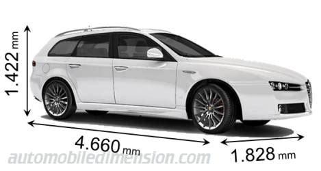 alfa romeo 159 sw dimensioni di auto alfa romeo con lunghezza larghezza e altezza